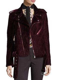 Etro Quilted Velvet Moto Jacket