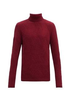 Etro Rib-knitted zig-zag wool sweater