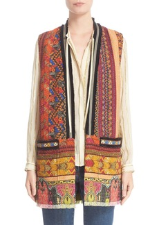 Etro Ribbon Print Cotton Blend Vest