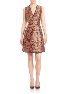 Etro Rose Brocade Trapeze Dress