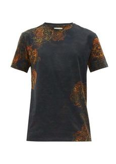 Etro Rose-print cotton-jersey T-shirt