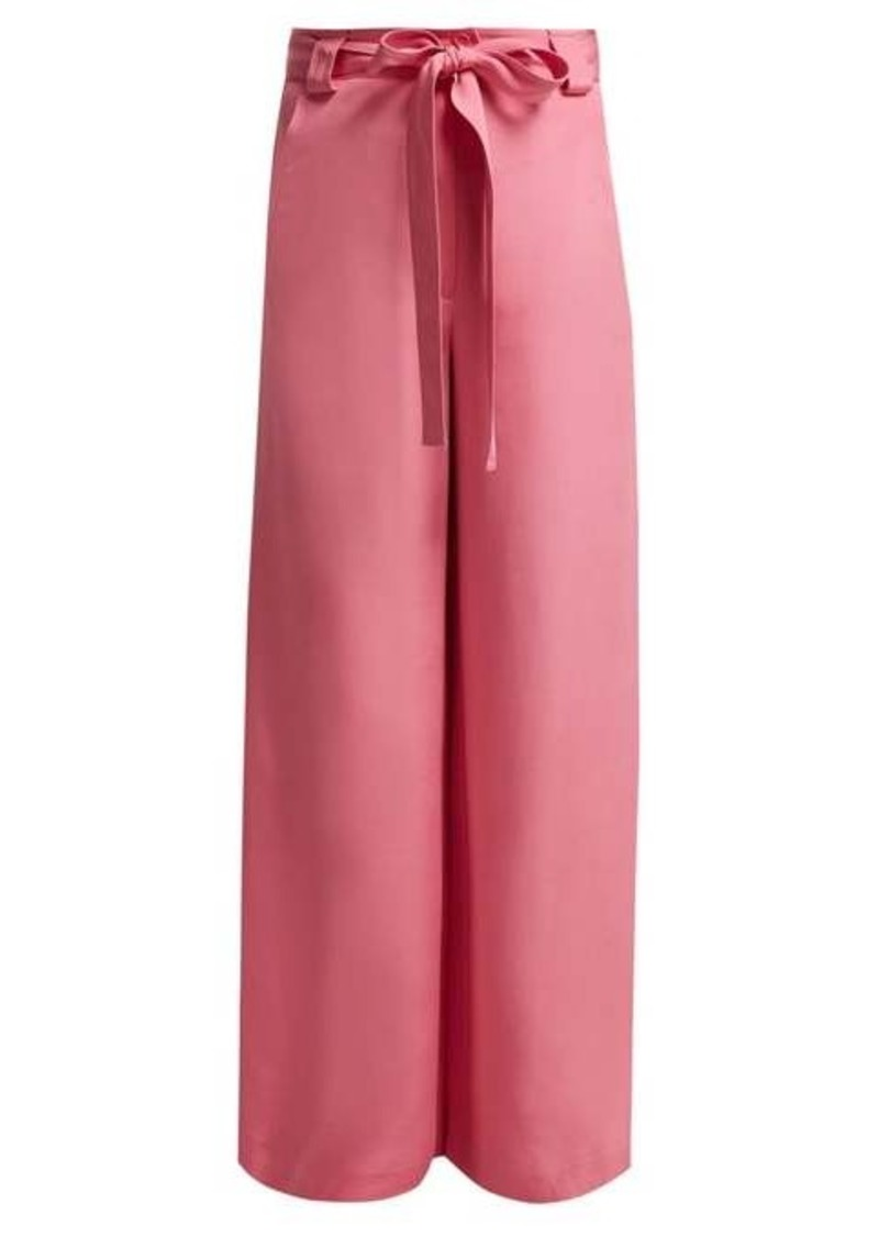 Etro Rosemont wide-leg silk trousers