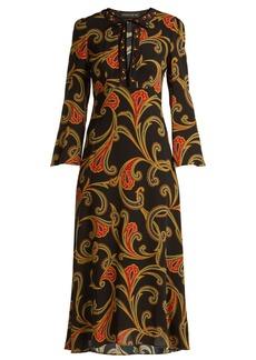 Etro Rosolite paisley-print tie-neck dress
