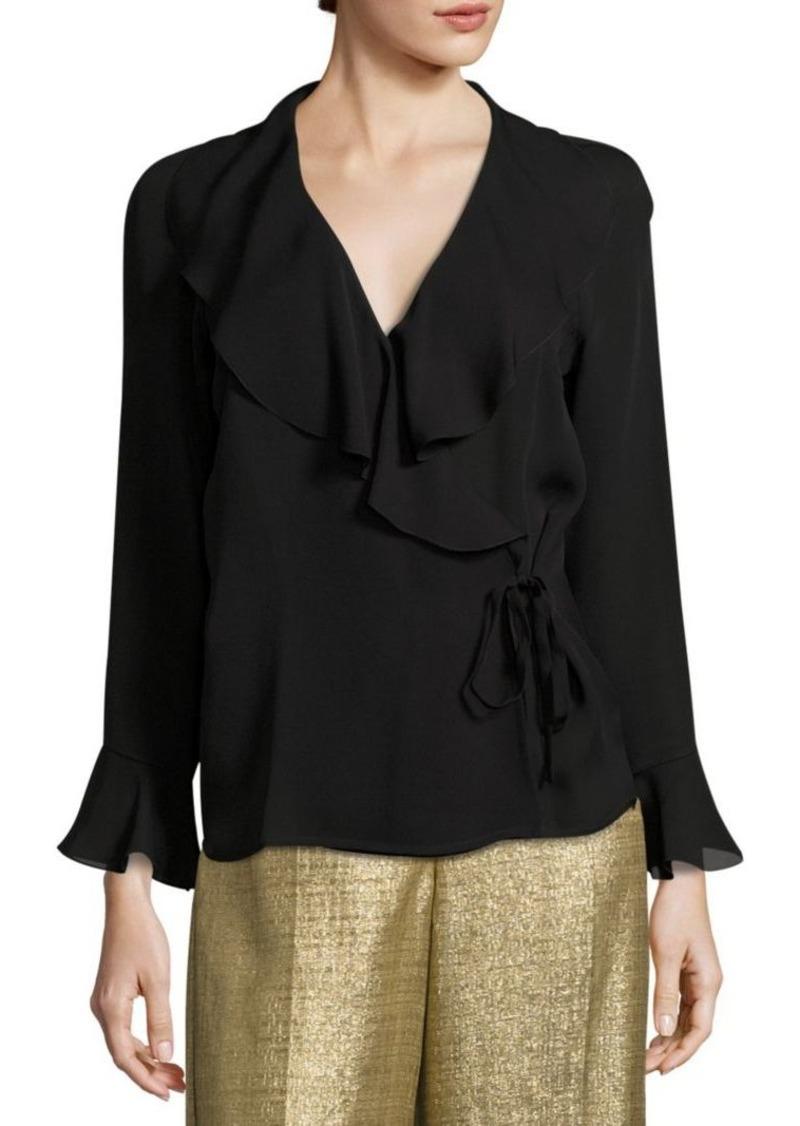 b928829e58cbc5 Etro Etro Ruffle Wrap Blouse | Dress Shirts