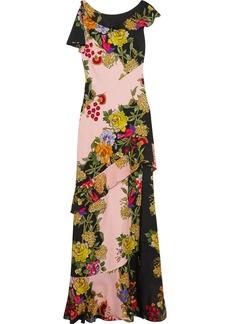 Etro Ruffled floral-print crepe and silk-chiffon maxi dress