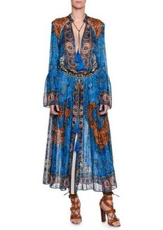 Etro Saffron Printed Caftan Dress