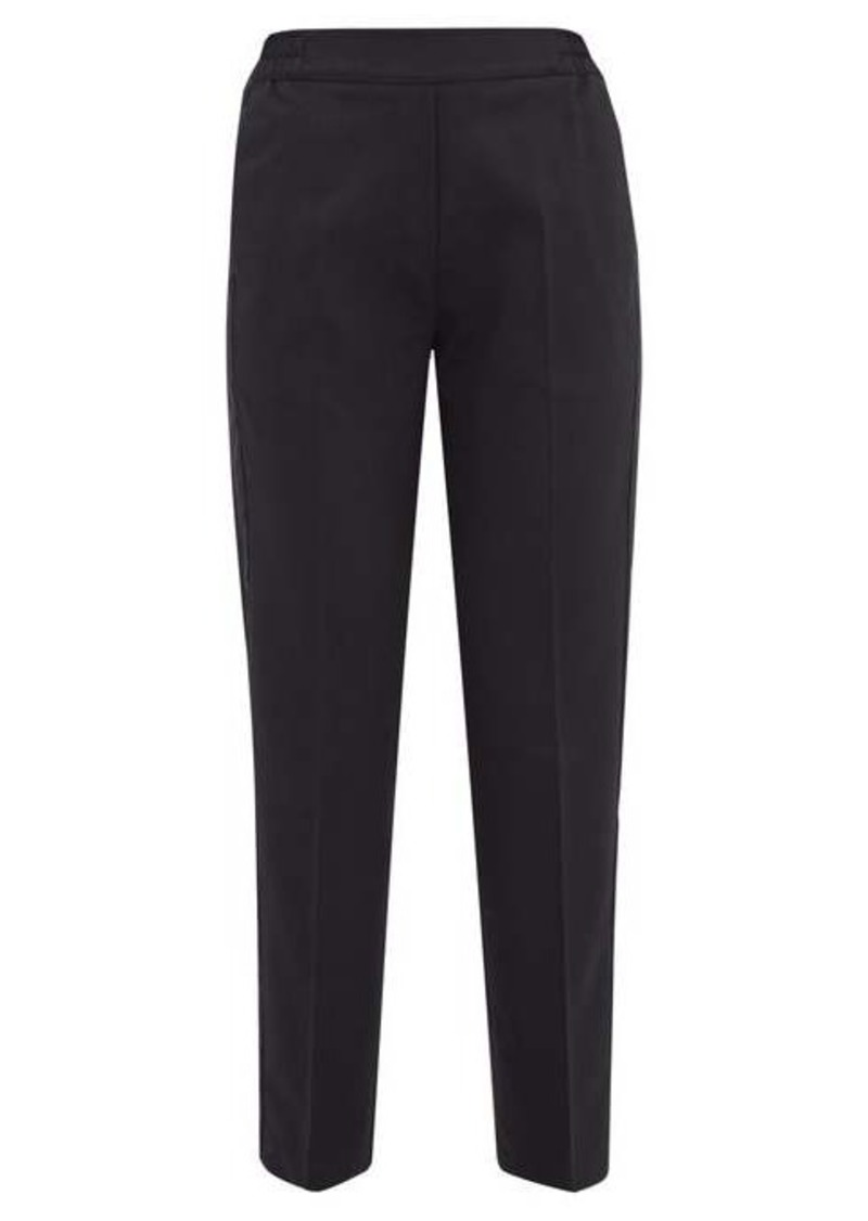 Etro Satin-trimmed wool-blend cropped trousers