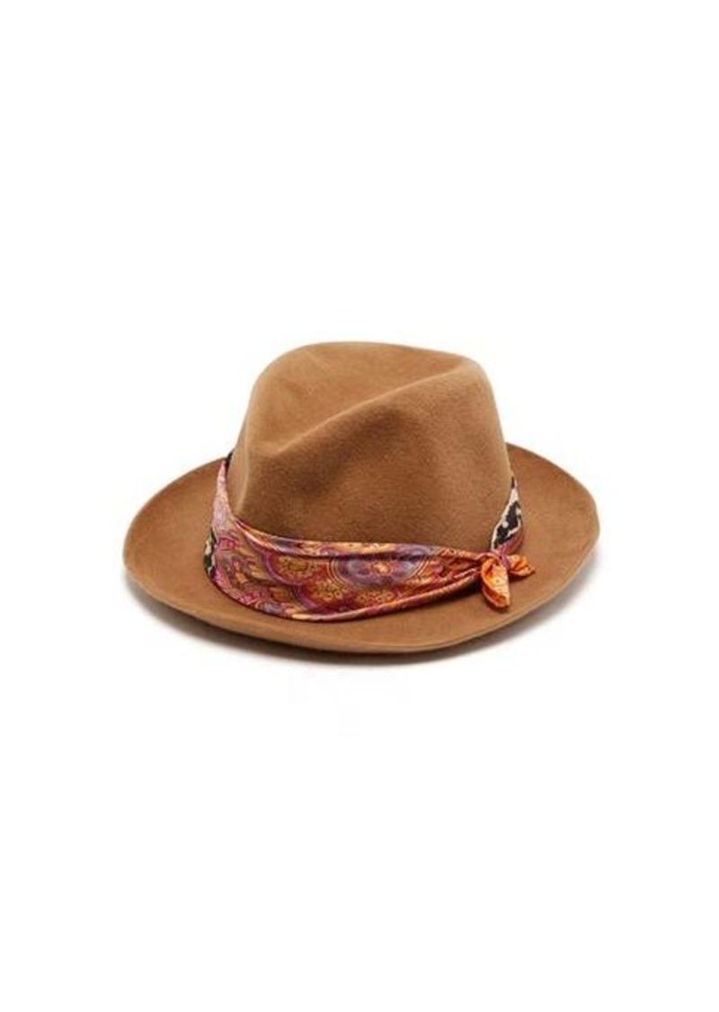 Etro Scarf-trimmed hat