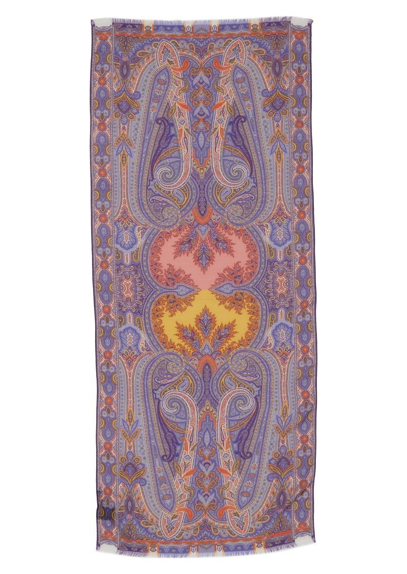 Etro Sciarpa Delhy Silk & Wool Scarf