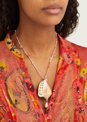 Etro Shell, crystal and faux-pearl necklace