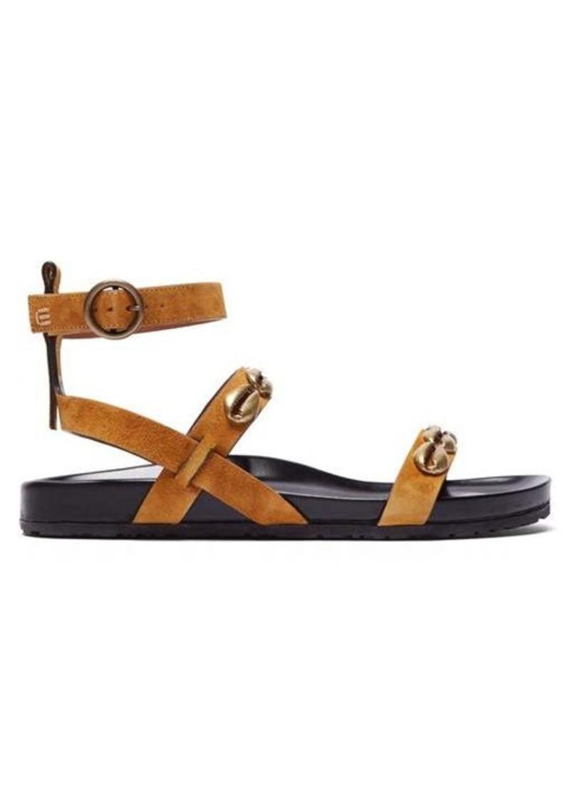 Etro Shell-embellished suede sandals