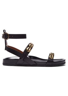 Etro Shell-studded leather sandals