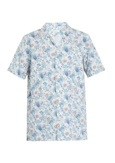 Etro Short-sleeved floral-print cotton-blend shirt