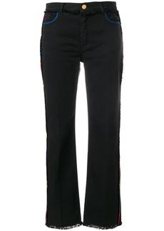 Etro side stripe frayed jeans - Black