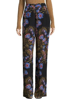 Silk Floral Pants