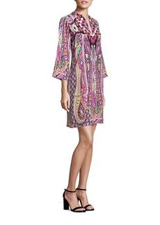 Etro Silk Ikat Printed Dress