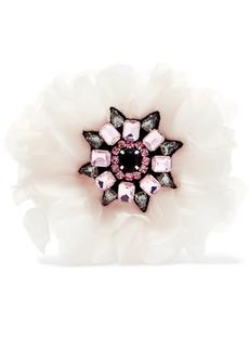 Silk-organza crystal brooch