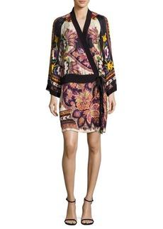 Etro Silk Paisley Wrap Dress