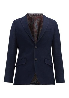 Etro Single-breasted cotton blazer