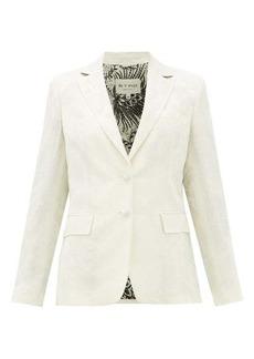 Etro Single-breasted floral-jacquard jacket