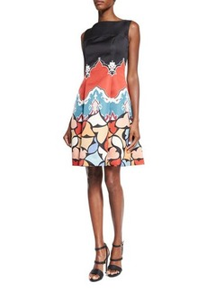 Etro Sleeveless Printed Fit-&-Flare Dress