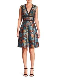 Etro Sleeveless V-Neck Brocade Dress