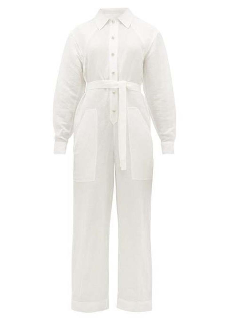 Etro Slubbed linen-blend poplin boiler suit