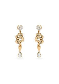 Etro Snake drop earrings