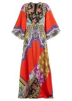 Etro Somerset patchwork silk maxi dress