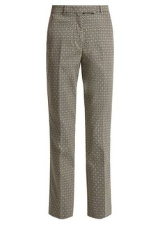 Etro Straight-leg cotton-blend jacquard trousers