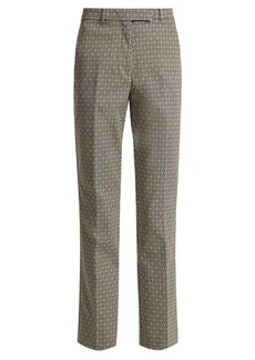 Etro Straight-leg cotton-blend jacquard trousers