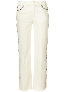 Etro straight leg embroidered jeans - Nude & Neutrals