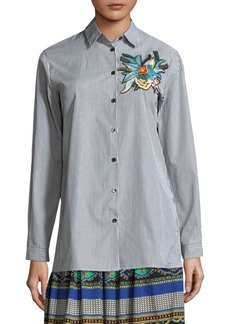 Stripe Embroidered Shirt