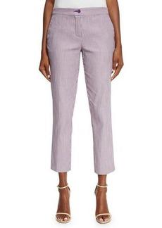 Etro Striped Straight-Leg Capri Pants