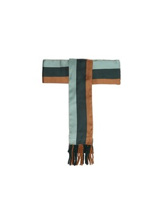 Etro Striped tassel-end silk belt