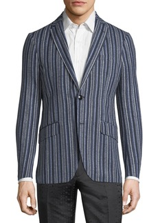 Etro Striped Wool-Blend Sport Coat