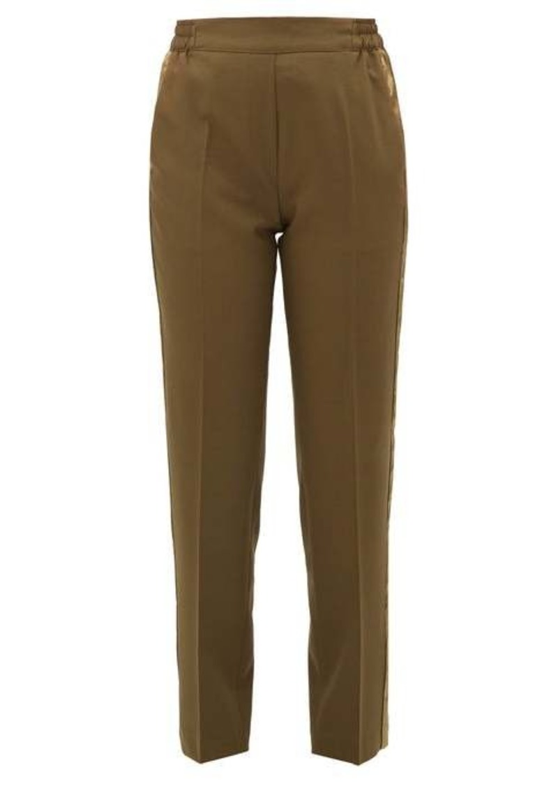Etro Striped wool-blend straight-leg trousers