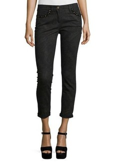 Etro Studded Paisley Skinny Jeans