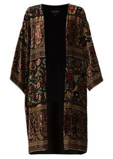 Etro Suffolk floral velvet-devoré coat