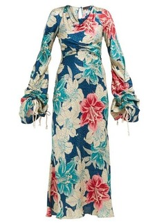 Etro Tamarindo Beach silk-jacquard dress