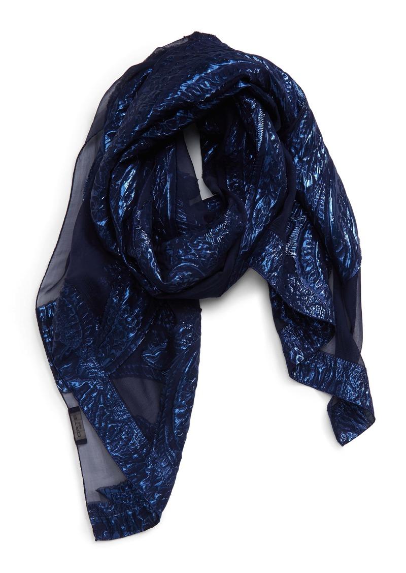 Etro Tassel Jacquard Silk Blend Scarf