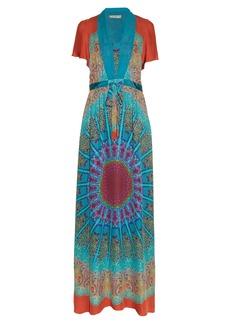 Etro Tie-waist paisley-print silk-georgette gown