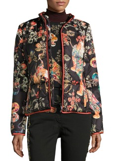 Etro Tiger-Print Quilted Puffer Jacket
