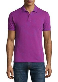 Etro Tonal Paisley-Print Short-Sleeve Polo Shirt