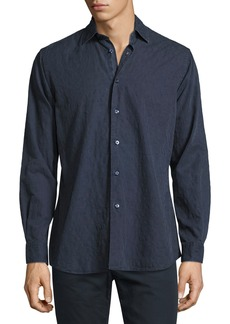 Etro Tonal Paisley Washed Cotton Shirt