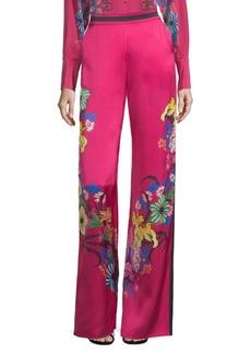 Tropical Floral-Print Pants