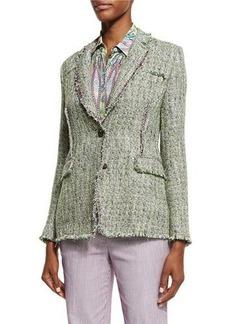 Etro Tweed Two-Button Jacket