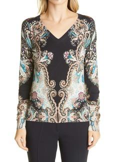 Etro V-Neck Silk Sweater