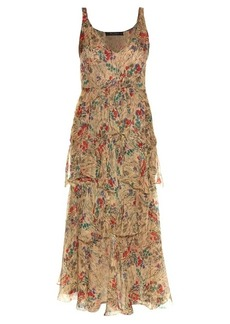 Etro V-neck sleeveless floral-print gown