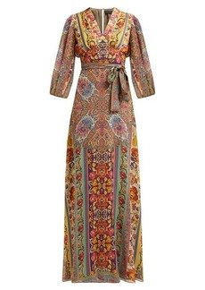 Etro Varo embroidered paisley-print silk-georgette gown